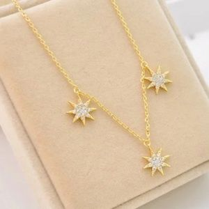 Henri Bendel crystal gold necklace